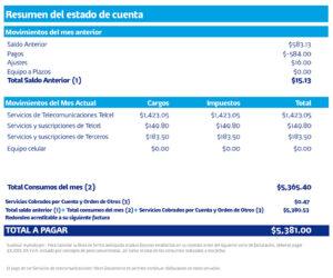Ejemplo Estado de Cuenta Telcel
