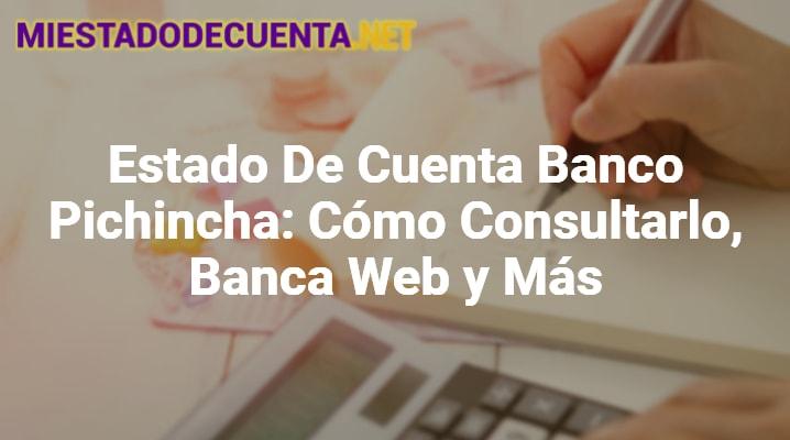 Estado de Cuenta Banco Pichincha: cómo Consultarlo, Banca Web y MÁS