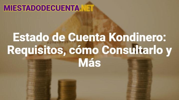Estado de Cuenta Kondinero