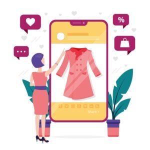 venta de ropa y teléfonos móvil