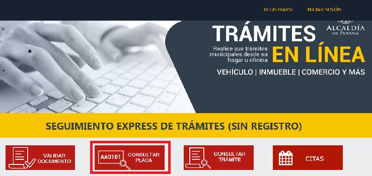 Estado de Cuenta Municipio de Panamá Consulta de Placa