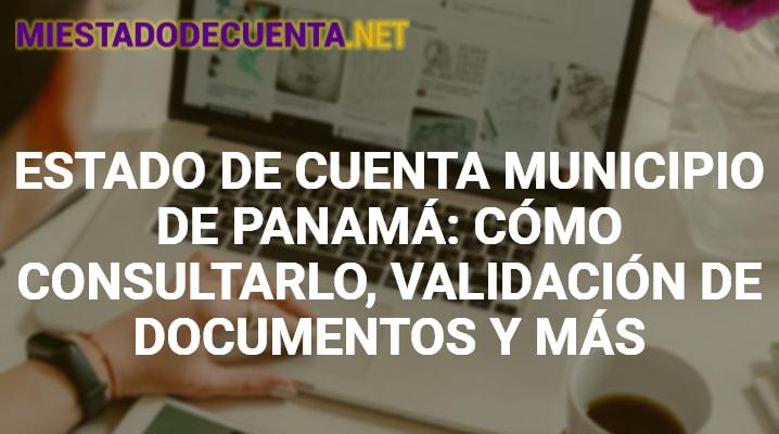Estado de Cuenta Municipio de Panamá
