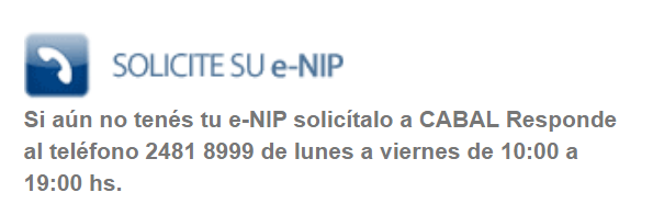 Estado de Cuenta Nabal Solicitud de e-NIP