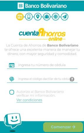 banco bolivariano cuenta de ahorro